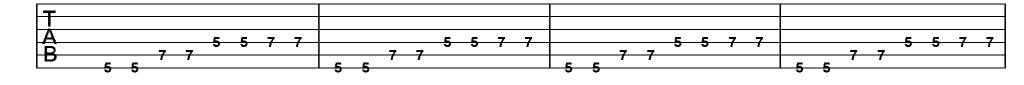 tabulatuur voor de gitaar uitleg